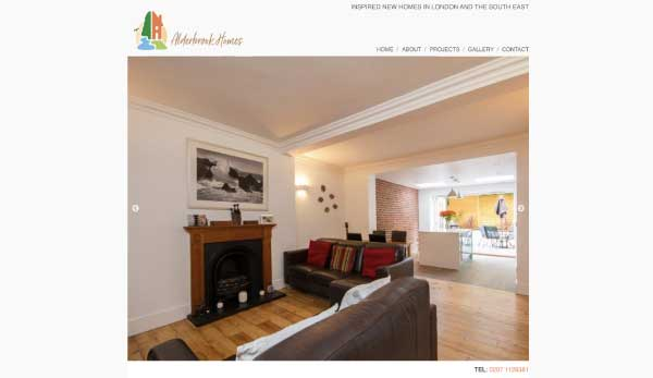 Alderbrook Homes website