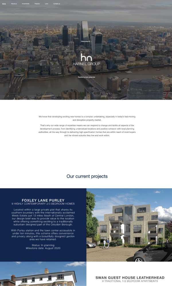 Harnel Propery Group website