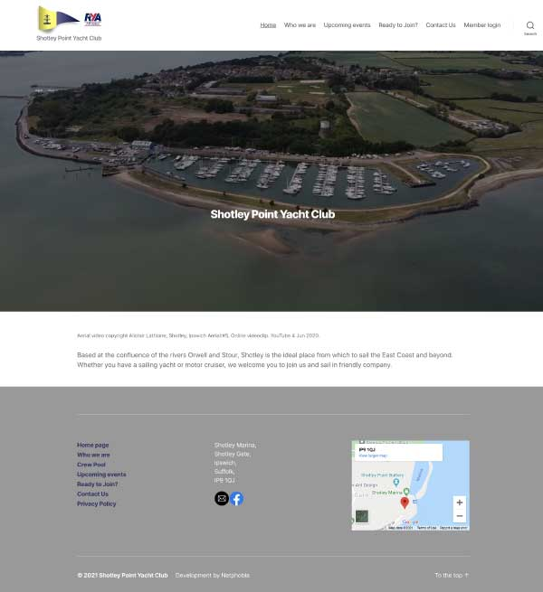Shotley Point Yacht Club website