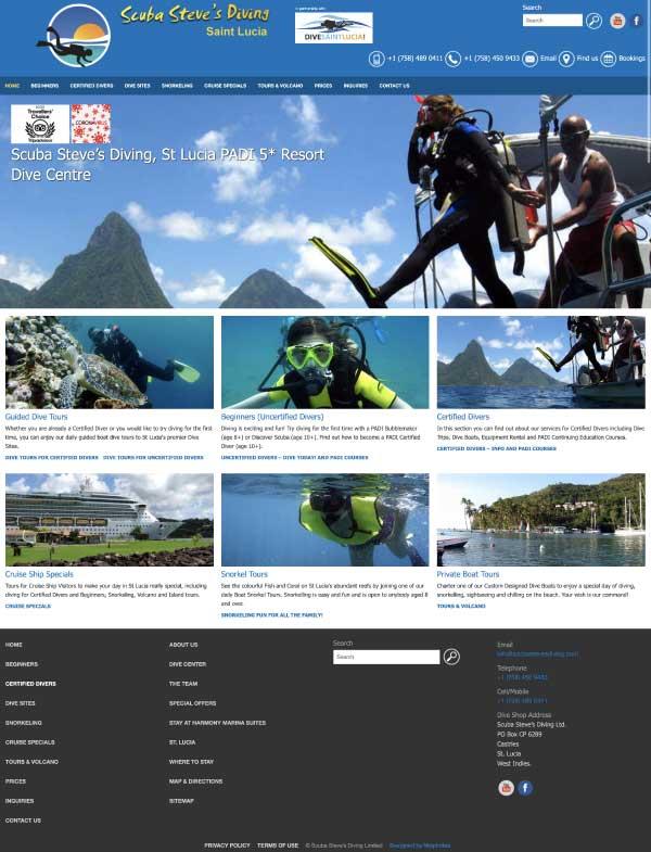 Scuba Steve's Diving website